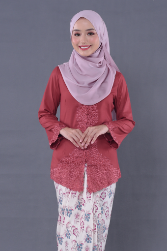 Kebaya Mulan 2.0 - Pink (Top Only)